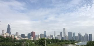 A Trip to Chicago, view from the Shedd Aquarium looking towards downtown and Michigan Avenue