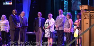 At the 49th session of the United Methodist Church, West Ohio Conference, 7 churches, within a 58 county region, were recognized for their enactment of Matthew 5:14-16.